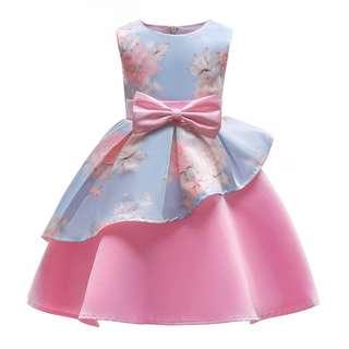 [PRE-ORDER] Kids Baby Girls Fashion New Summer Sleeveless Floral Princess Dress Party Dress