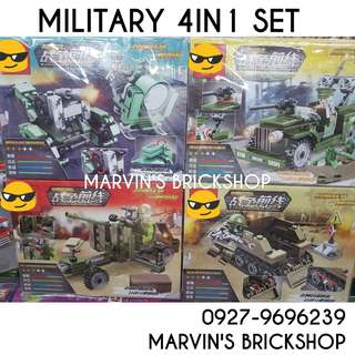 For Sale SEMBO Military Soldiers 4in1 set