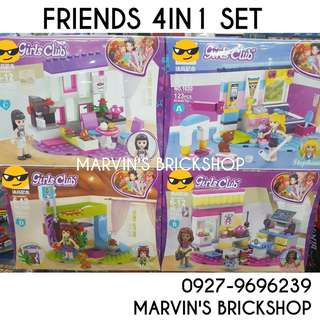 For Sale FRIENDS 4in1 set Building Blocks Toy