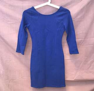 Pull and bear electric blue dress