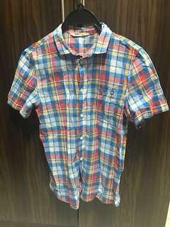 H&M checked short sleeve shirt