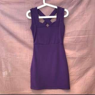 Purple Party Dress Pesta