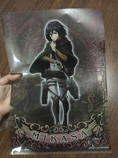 Attack on Titan Mikasa clear folder