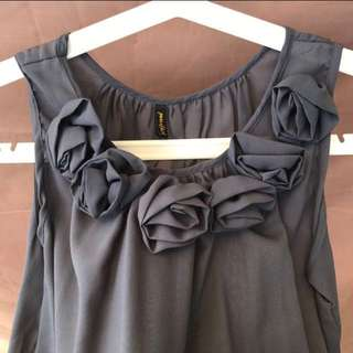 Grey Rose Party Dress