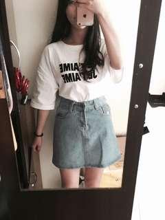 高腰牛仔裙(A字裙)