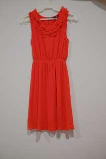 F21 Red Sleeveless Dress