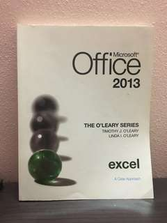 Microsoft office 2013, The O'Leary Series (excel)