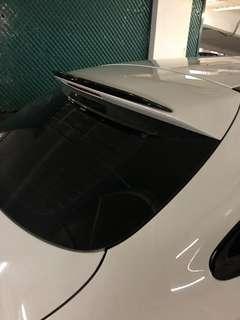 Carbon fibre boot spoiler for Mercedes CLA shooting brake