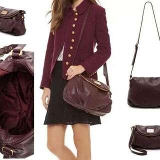 MJ leather shoulder bag