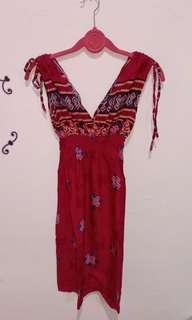 Dress batik , pinktua