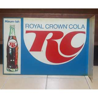 Vintage double sided flange Royal Crown Cola sign