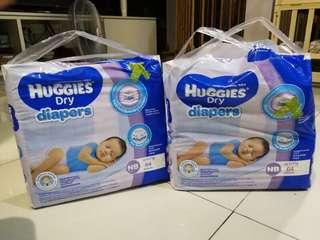 Huggies dry diapers (Newborn)