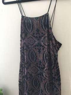 Urban Outfitters Velvet Swing dress