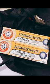 Arm & Hammer extreme whitening toothpaste from Boots UK
