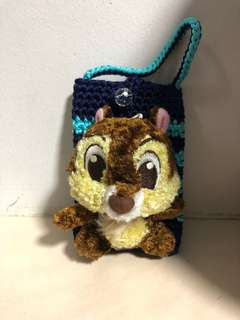 Knitted chip 'n' dale pouch