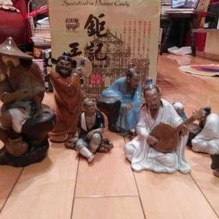 石灣陶瓷公仔 (共12個)