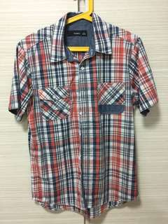 bossini checkered shirt (S size)
