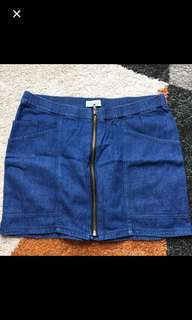 Pull and bear jeans skirt