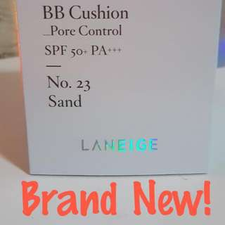 New Laneige BB Cushion Pore Control Spf50 No. 23. Sand