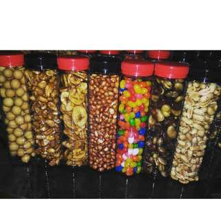 Assorted nuts and beans
