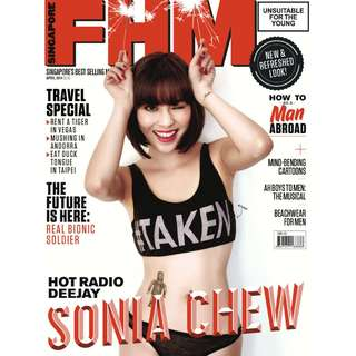 FHM Singapore - April 2014 Issue - Singapore's hottest radio DJ, 987FM's Sonia Chew