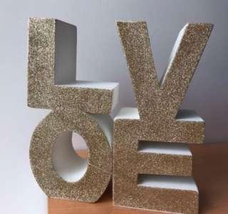 Love wedding decor