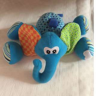 Take 2 Infantino Plush Elephant Teether Rattle & Combi Music for Stroller