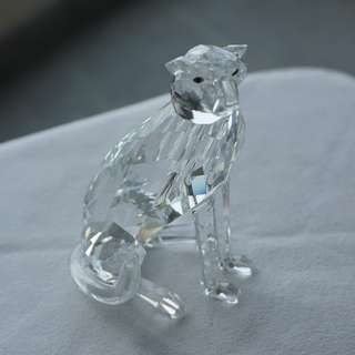 Swarovski Silver Crystal leopard (ref 015)