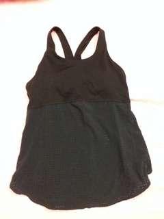 99%新New Balance 黑色L size 運動背心,內附可拆除胸墊,已洗冇著過。