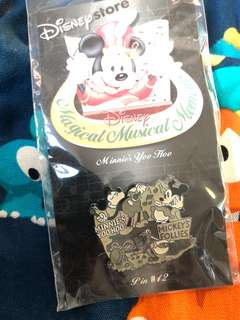 迪士尼襟章 Disney mickey Minnie pin #42 disneystore music