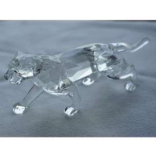 Swarovski Silver Crystal leopard 2(ref 017)