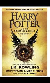 Harry Potter And The Cursed Child hardcover brand new