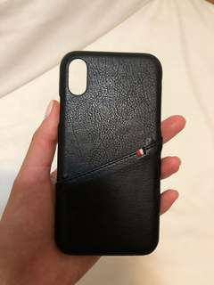 Black iphone x case with pocket 電話殼