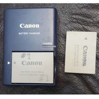 Canon NB-5L with charger CB-2LXE