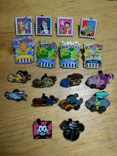 Disney pin popcorn racers hm 迪士尼徽章