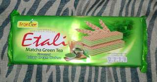 ⌛ Madison Frontier Etali Flavoured Crispy Cream Wafers MATCHA GREEN TEA 150g