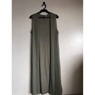 H&M Divided Army Green Knitted Long Vest