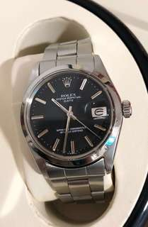 RARE 46 years old Vintage Rolex Oyster Perpetual Date 1500 34mm matte black dial