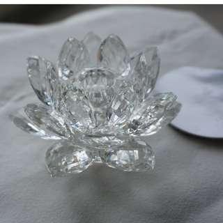Swarovski Silver Crystal flower (023)