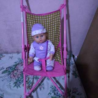 stroller with doll