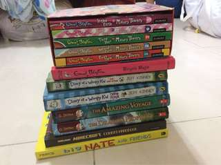 URGENT !! CHILDREN'S BOOKS CLEARANCE !! (enid blyton, minecraft, geronimo stilton, big nate, wimpy kid)