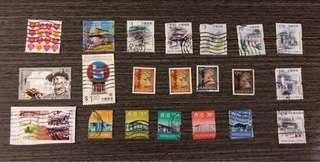 女王頭郵票 1997香港郵票 中國武術、18區特色、童軍郵票