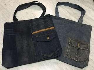 Upcycled Denim Big bag (earth day)