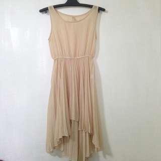 Skintone Chiffon dress