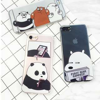 [PO] WE BARE BEARS Transparent Covers