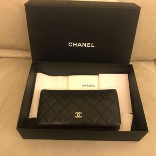 Chanel classic 羊皮銀包100%正品有單(專門店斷貨款)