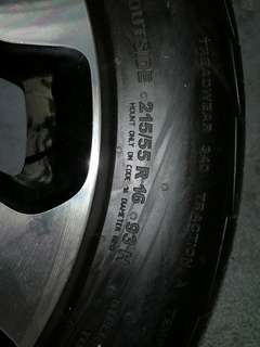 Honda Civic X used tyre & rim 16'