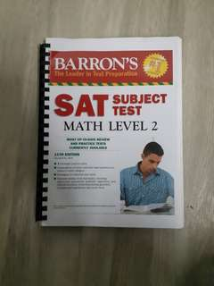 BARRON's SAT Subject Test Math Level 2 Workbook