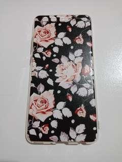 Huawei P10 Plus Black Floral Phone Case