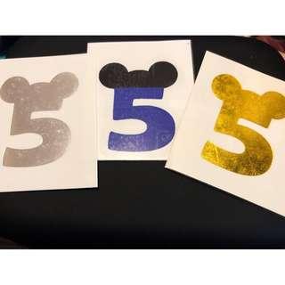 五月天-迪士尼五月之約紋身貼